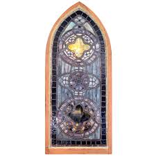 octagon stained glass window a massive french neogothic painted carved wood arched window frame
