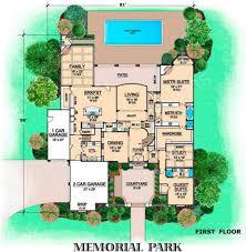memorial park courtyard house plan luxury floor plan