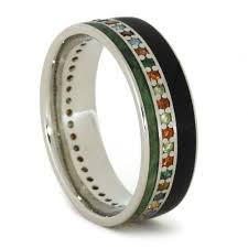 mens eternity rings gemstone wedding band wood ring eternity ring for men or women