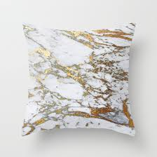 gold marble throw pillow by jennadavis society6
