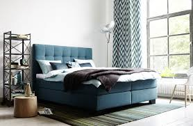 Schlafzimmer Blau Sand Boxspring Konfigurator