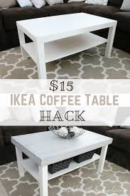 ikea hacks coffee table ikea coffee table hack make this coffee table painttheworldwhite