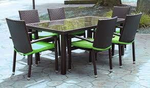 Faux Wicker Outdoor Furniture 7 Piece Black Resin Wicker Outdoor Furniture Patio Dining Set