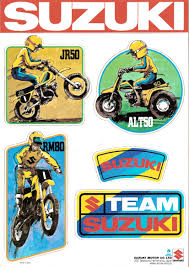 suzuki mini decal sheet full floater suzuki rm vintage motocross