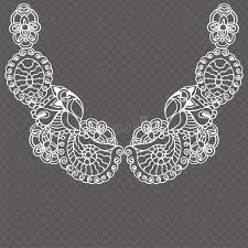 vintage lace collar necklace images Vintage lace detachable collar necklace embroidery stock vector jpg