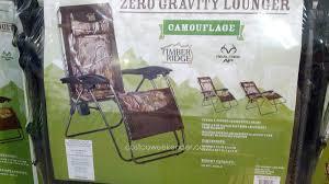 Anti Gravity Chair Costco Timber Ridge Zero Gravity Lounger Chair Camouflage Costco Weekender