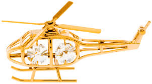helicopter gold ornament