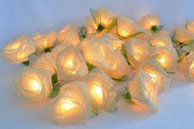 Flower String Lights by Amazon Com White Rose Flower Lights For Bedroom And Wedding
