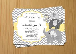 Invitation Card Baby Shower Baby Shower Invitations Elephant Theruntime Com