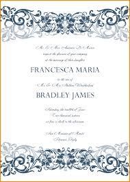 5 wedding invitation templates free artist resume