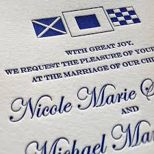 Nautical Wedding Programs Original Letterpress Wedding Invitations U0026 Stationery Designs