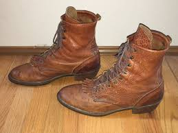 womens size 12 paddock boots vintage pair of quality brown leather packer paddock boots