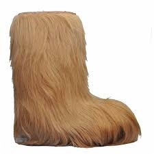 boots hair womens goat hair real fur boot beige alpine accessories