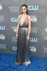 dress gal gal gadot s dress at the 2018 critics choice awards popsugar