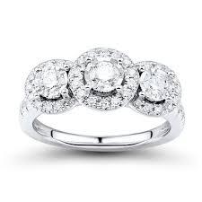 bjs wedding rings 1 00 ct t w promise forever diamond ring in 14k white