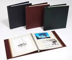 leather self adhesive photo albums handmade in the uk