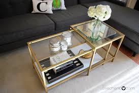 ikea hacks coffee table golden rectangle antique metal and glass ikea hack coffee table to