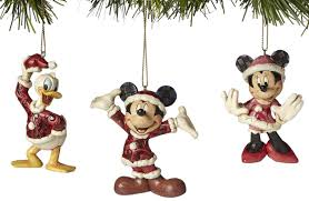 jim shore mickey mouse mickey minnie and donald duck ornaments