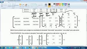 calculo referencial de prestaciones sociales en venezuela corregido modelo insumo producto input output de leontief matriz