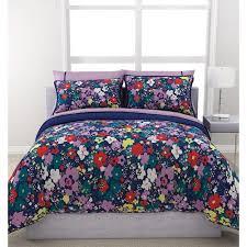 Purple Floral Comforter Set Formula Ditsy Floral Reversible Bed In A Bag Bedding Set Navy