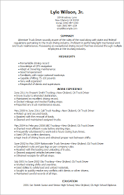 exle of a simple resume decoration truck driver resume exle resumes sle and tips