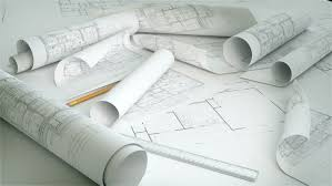 rolls of architectural blueprints stock footage video 660850