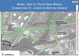 St Joseph River Map Paw Paw River Pedestrian Bridge Plan To Advance Monday Night