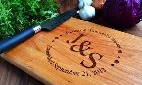 personalised cutting boards personalised chopping board groupon