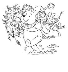 winnie the pooh coloring pages online pooh carrying christmas