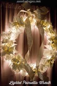 bethlehem lights battery op 24 poinsettia wreath h196167 qvc