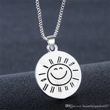 inspirational pendants wholesale you are my smile coin pendant necklace silver