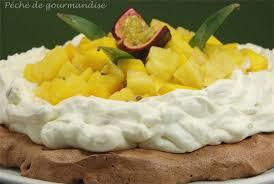 cuisine tv les desserts de benoit pavlova au chocolat et fruits exotiques d après benoit molin péché