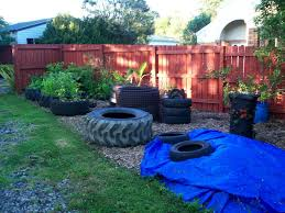fish pond from tractor or car tires 9 steps with pictures