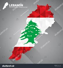 Lebanon Flag Tree Lebanon Flag Overlay On Lebanon Map Stock Vector 306411488
