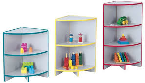 Corner Bookcases Jonti Craft Rainbow Accents Kydzcurves Corner Bookcases School