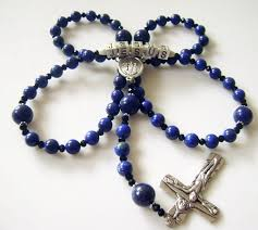 personalized rosary personalized rosary name necklace lapis lazuli
