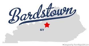 kentucky map bardstown map of bardstown ky kentucky