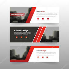 layout banner template red black label banner abstract triangle corporate business banner