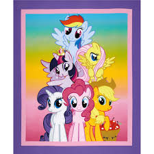 hasbro my little pony traditional best friend pony panel purple