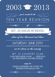 50th high school class reunion invitation blue banner class reunion invitation 10 year class reunion