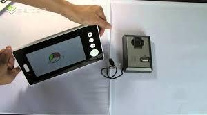 Front Door Video Monitor by Hot Wireless Video Door Intercom Youtube