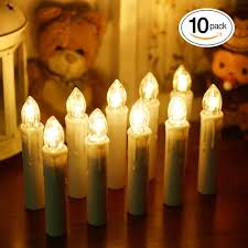 window led taper candles with remote control turnraise flameless