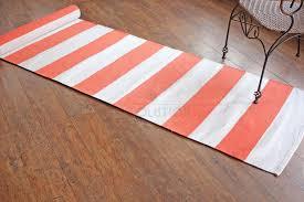 Plum Runner Rug Plum Purple Plain Stripe Cotton Runner Rugs Flat Weave Revesable