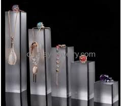 necklace jewelry display stand images Wholesale acrylic jewellery display set counter display stand jpg