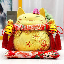 wedding gift opening 2018 gold lucky cat genuine japanese nouveau riche wealth makes