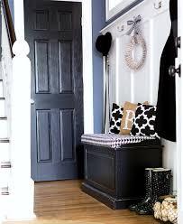 entry decor black white burlap decor in entry