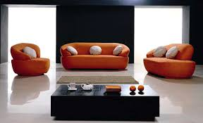 Fabric Modern Sofa Sofas Contemporary Fabric Orange Sofa Design For Contemporary