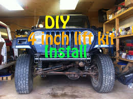 jeep suspension lift diy jeep lift kit install part 1 4 inch suspension lift