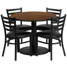 Round Dining Table And Chairs For 4 Amazon Com Flash Furniture 36 U0027 U0027 Round Black Laminate Table Set