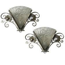 Wall Sconce Art Deco Pair Of French Art Deco Wall Sconces By Degue Modernism